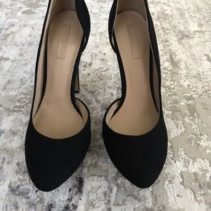 Zara Shoes - Zara platform pump black suede 7 37